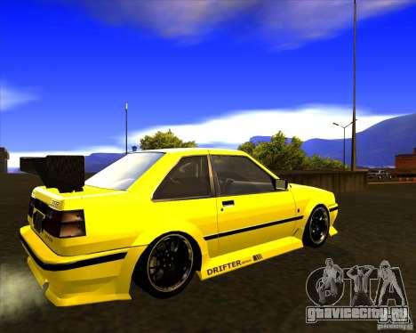 GTA VI Futo GT custom для GTA San Andreas вид сзади слева