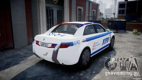 Carbon Motors E7 Concept Interceptor NYPD [ELS] для GTA 4 вид сзади слева