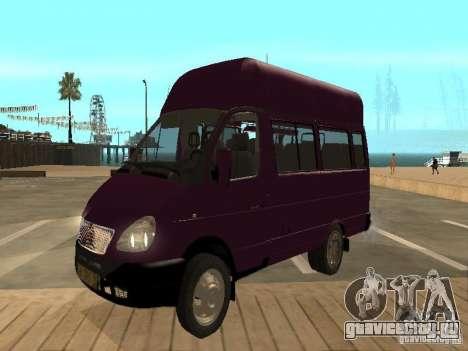 ГАЗель 32213 маршрутное такси для GTA San Andreas