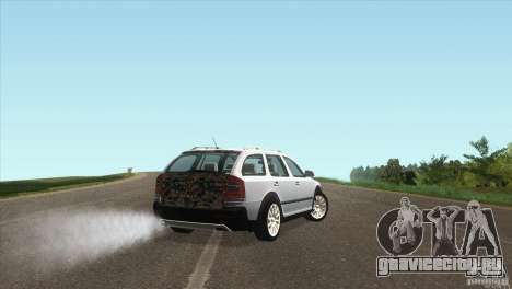 Skoda Octavia Scout для GTA San Andreas вид сзади слева