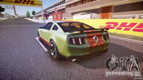 Ford Mustang Shelby GT500 2010 (Final) для GTA 4 вид сзади слева