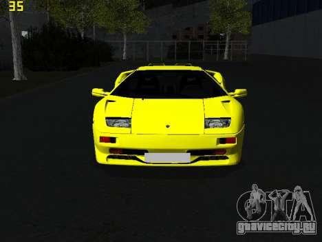 Lamborghini Diablo SV для GTA San Andreas вид справа
