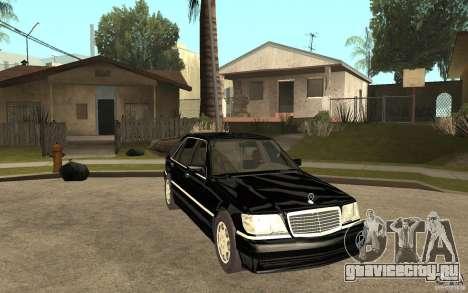 Mercedes-Benz S600 V12 W140 1998 V1.3 для GTA San Andreas