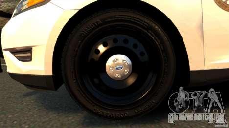 Ford Taurus 2010 CCSO Police [ELS] для GTA 4 вид изнутри