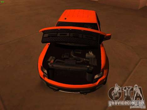 Ford F-150 SVT Raptor 2009 Final для GTA San Andreas вид изнутри