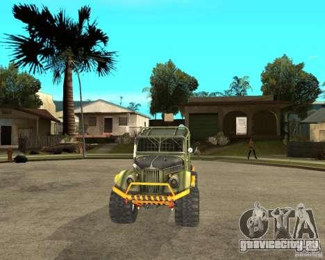 ГАЗ 69 Триал для GTA San Andreas вид сзади