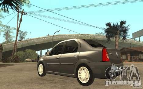 Dacia Logan Prestige 1.6 16v для GTA San Andreas вид сзади слева