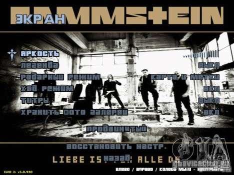 Меню Rammstein для GTA San Andreas