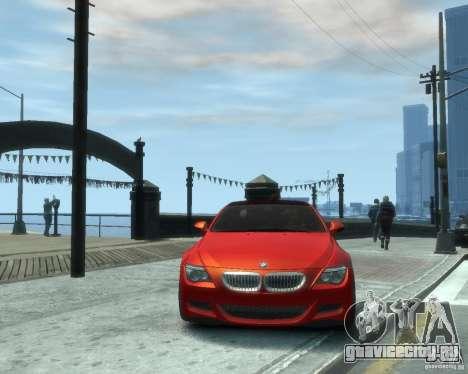 BMW M6 2010 v1.1 для GTA 4 вид сзади