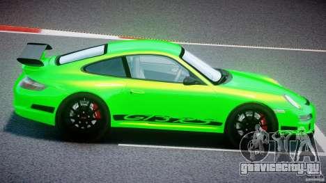 Porsche 997 GT3 RS для GTA 4 вид сбоку
