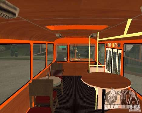 ЛиАЗ-677 (Кафе минутка) для GTA San Andreas вид сзади слева