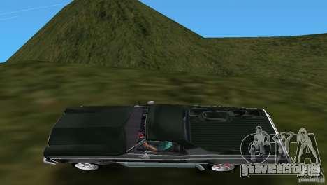 Chevrolet El Camino Idaho для GTA Vice City вид сзади