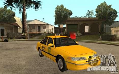 Ford Crown Victoria Taxi 1992 для GTA San Andreas вид сзади