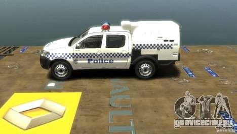 Toyota Hilux Australian Police ELS для GTA 4 вид сзади