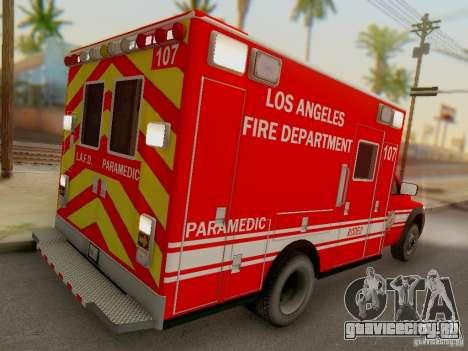 Dodge Ram 1500 LAFD Paramedic для GTA San Andreas вид справа