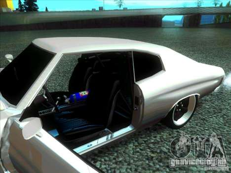Chevrolet Chevelle SS Domenic from FnF 4 для GTA San Andreas вид сзади слева