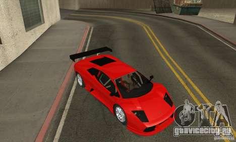 Lamborghini Murcielago R GT для GTA San Andreas вид изнутри