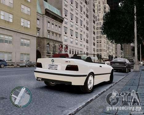 BMW M3 e36 1997 Cabriolet для GTA 4 вид изнутри