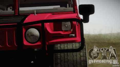 Hummer H1 Alpha Off Road Edition для GTA San Andreas вид сзади слева