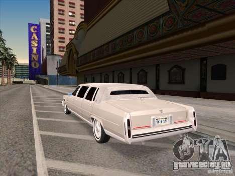 Cadillac Fleetwood Limousine 1985 для GTA San Andreas вид сзади слева