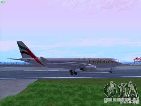 Airbus A330-200 Emirates для GTA San Andreas вид слева