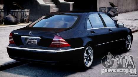 Mercedes-Benz W220 для GTA 4 вид сбоку