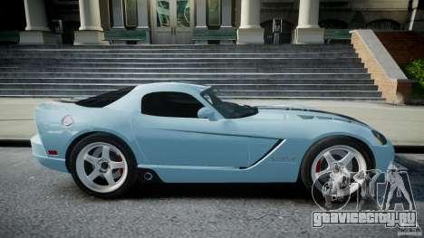 Dodge Viper SRT-10 для GTA 4 вид изнутри