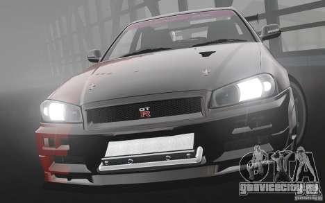 Nissan Skyline R34 Evil Empire для GTA 4 вид слева