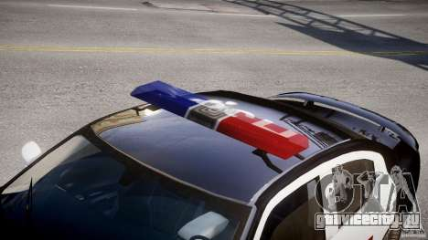 Dodge Charger SRT8 Police Cruiser для GTA 4 вид сбоку