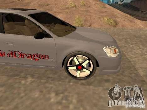 NISSAN ALTIMA для GTA San Andreas вид сбоку