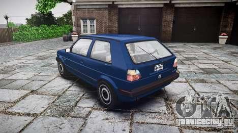 Volkswagen GOLF MK2 GTI для GTA 4 вид сбоку