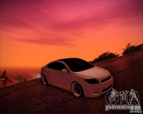 Scion tC Blue Meisters для GTA San Andreas вид сверху