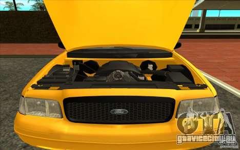 Ford Crown Victoria Taxi 2003 для GTA San Andreas вид сзади слева
