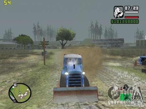 Бульдозер на базе ДТ-75 Казахстан для GTA San Andreas вид сзади