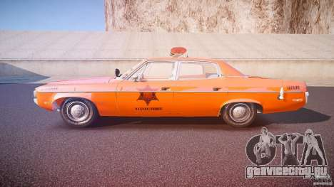 AMC Matador Hazzard County Sheriff [ELS] для GTA 4 вид слева