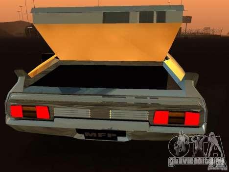 Ford Falcon XB Coupe Interceptor для GTA San Andreas вид сзади