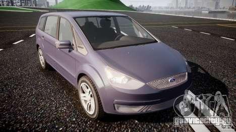 Ford Galaxy S-Max для GTA 4 вид сзади