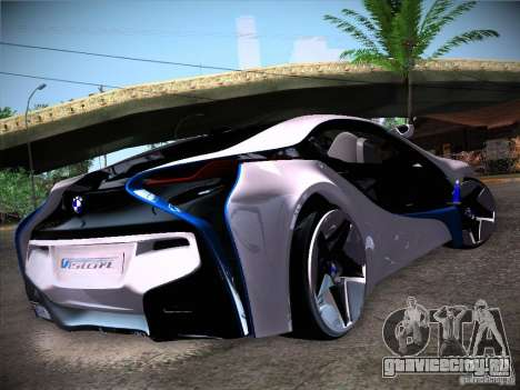 BMW Vision Efficient Dynamics I8 для GTA San Andreas вид сзади слева