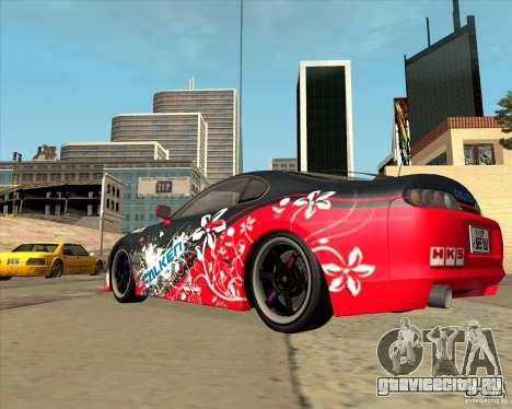 Toyota Supra by Cyborg ProductionS для GTA San Andreas вид сзади слева