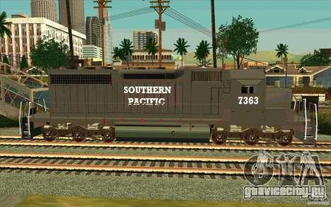 Southern Pacific SD 40 для GTA San Andreas вид слева