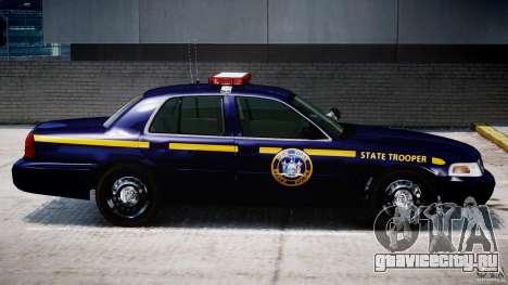 Ford Crown Victoria New York State Patrol [ELS] для GTA 4 вид снизу