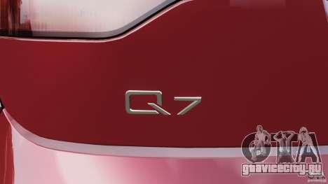 Audi Q7 V12 TDI v1.1 для GTA 4 салон