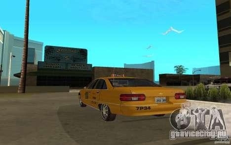 Chevrolet Caprice taxi для GTA San Andreas вид слева
