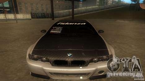 BMW E46 M3 Coupe 2004M для GTA San Andreas вид слева