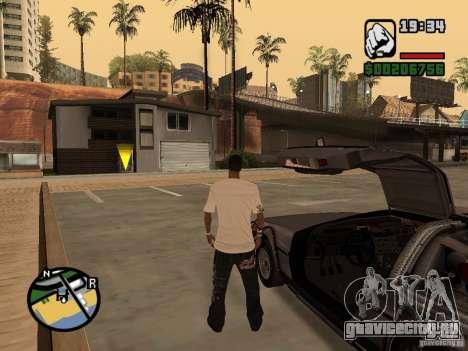 Crysis Delorean BTTF1 для GTA San Andreas вид справа