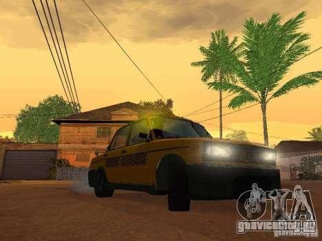 ВАЗ 2106 Такси тюнинг для GTA San Andreas вид сзади слева