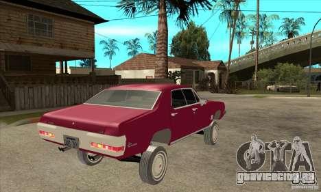 Pontiac LeMans для GTA San Andreas вид справа
