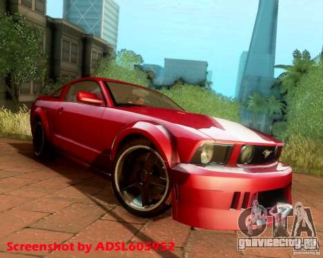 Ford Mustang GT 2005 Tunable для GTA San Andreas вид сзади