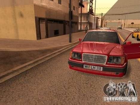 Mercedes-Benz E500 Taxi 1 для GTA San Andreas вид изнутри