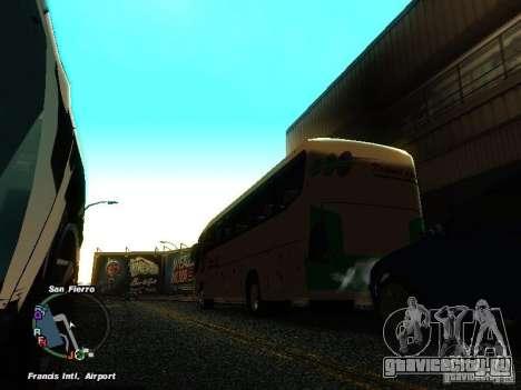 Bus Kramat Djati для GTA San Andreas вид сзади слева
